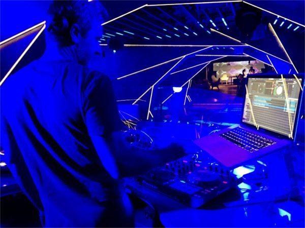 dj set at club