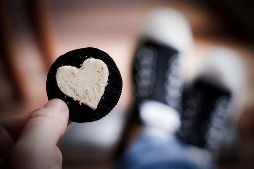 עוגית אוראו לב