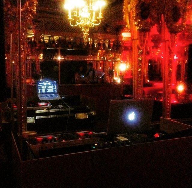 dj at oscar wilde bar hotel cafe royal