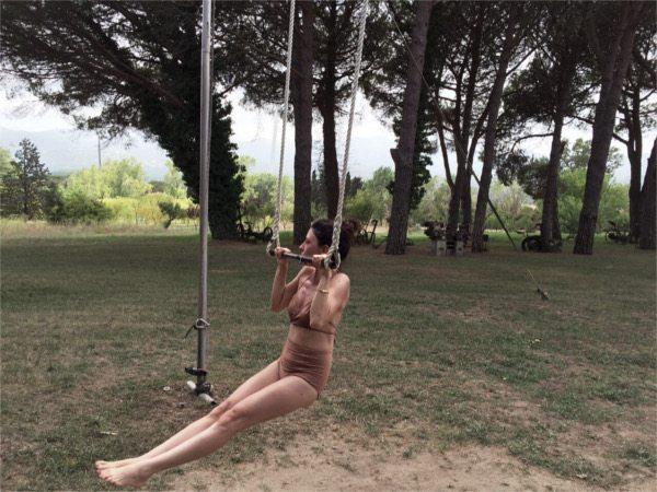 swinging in santa cristina