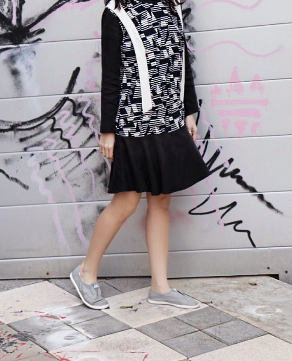 cute dress and sneakers1